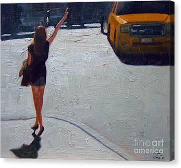 How To Hail A Cab Canvas Print
