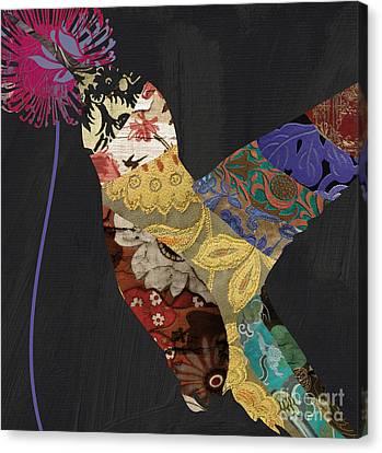 Hummingbird Brocade IIi  Canvas Print