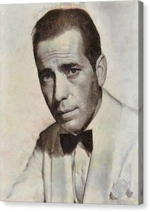 Mansfield Canvas Print - Humphrey Bogart Vintage Hollywood Actor by John Springfield
