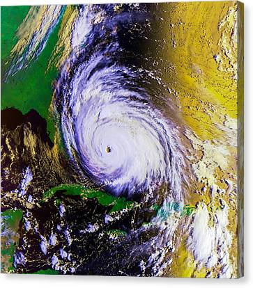 Miami Canvas Print - Hurricane Floyd   by Jon Neidert