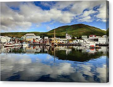 Husavik Harbor Canvas Print