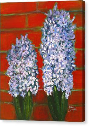 Canvas Print featuring the painting Hyacinths by Patricia Januszkiewicz
