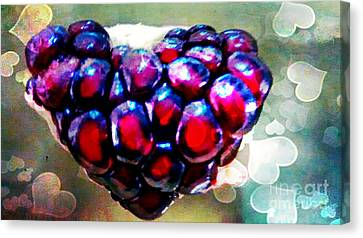 Canvas Print featuring the painting I Heart You by Genevieve Esson