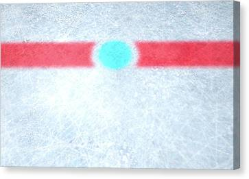 Ice Hockey Centre Canvas Print
