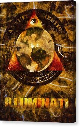 Illuminati Canvas Print by Esoterica Art Agency