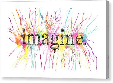 Painted Details Canvas Print - Imagine. by Kalie Hoodhood