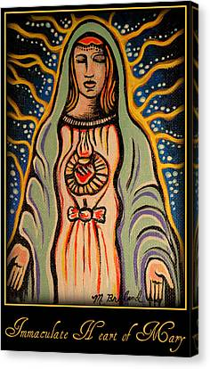 Immaculate Heart Of Mary Canvas Print by Melissa Wyatt