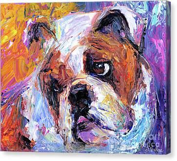 Impressionistic Bulldog Painting  Canvas Print by Svetlana Novikova