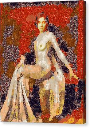 In The Style Of Klimt Canvas Print by Esoterica Art Agency