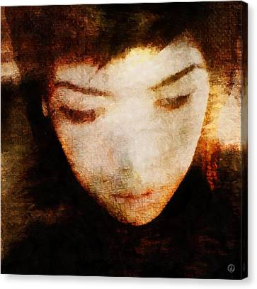 Canvas Print featuring the digital art In Thoughts by Gun Legler