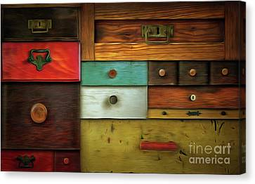 In Utter Secrecy - Various Drawers Canvas Print