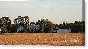 Southern Indiana Autumn Canvas Print - Indiana Farmland  by Scott D Van Osdol