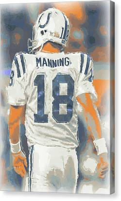 Indianapolis Colts Peyton Manning Canvas Print by Joe Hamilton