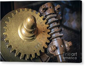 Industrial Gear Canvas Print by Carlos Caetano