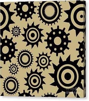 Industrial Pattern Canvas Print by Alina Krysko