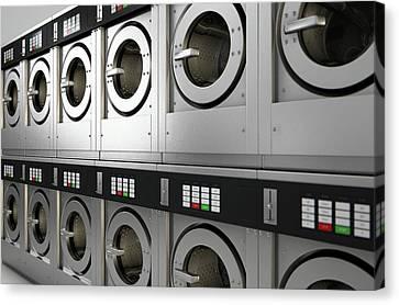 Industrial Washing Machine Canvas Print by Allan Swart