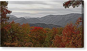 Infinite Smoky Mountains Canvas Print by DigiArt Diaries by Vicky B Fuller