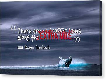 Canvas Print - Inspirational Timeless Quotes - Roger Staubach by Adam Asar