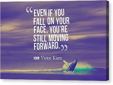 Canvas Print - Inspirational Timeless Quotes - Victor Kiam by Adam Asar