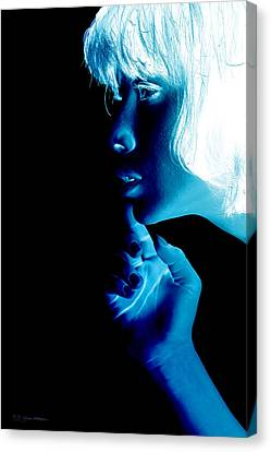 Inverted Realities - Blue  Canvas Print by Serge Averbukh