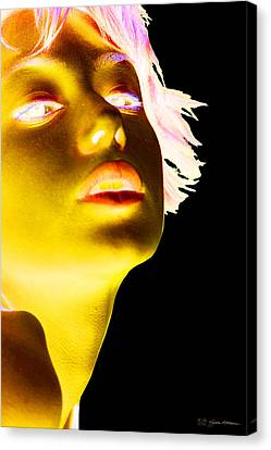 Inverted Realities - Yellow  Canvas Print by Serge Averbukh