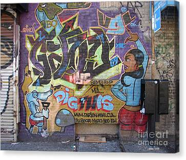 Canvas Print featuring the photograph Inwood Graffiti  by Cole Thompson
