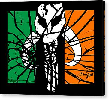 Irish Mandalorian Flag Canvas Print by Dale Loos Jr