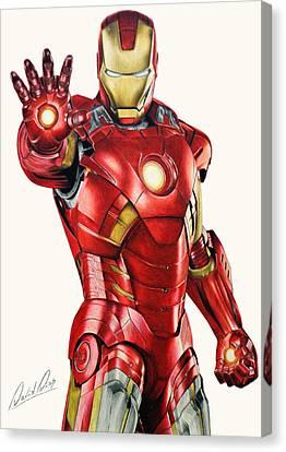 Avengers Canvas Print - Iron Man by David Dias