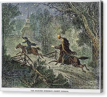 Irving: Sleepy Hollow Canvas Print by Granger