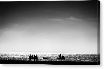 Is This Seat Taken Canvas Print by Peter Scott