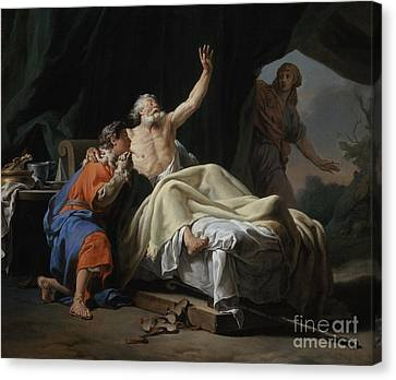 Isaac Blessing Jacob Canvas Print