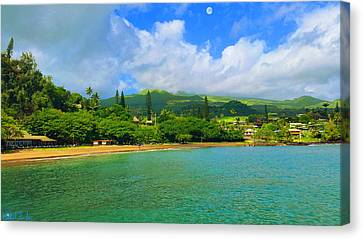 Island Of Maui Canvas Print by Michael Rucker