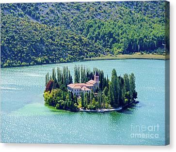 Island Of Visovac Monastery #2 Canvas Print