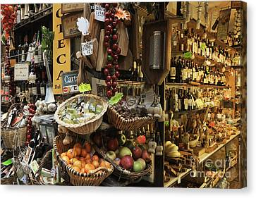 Italian Delicatessen Or Macelleria Canvas Print
