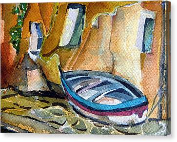 Italian Riviera Canvas Print by Mindy Newman