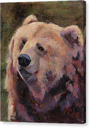 It's Good To Be A Bear Canvas Print by Billie Colson