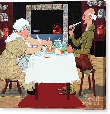 Jack Sprat Vintage Mother Goose Nursery Rhyme Canvas Print