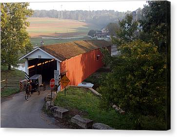 Jacksons Sawmill Covered Bridge Canvas Print by Dan Myers