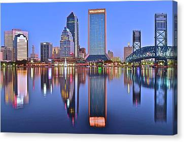 Jacksonville At Dawn Canvas Print by Frozen in Time Fine Art Photography