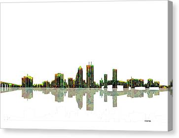 Jacksonville Florida  Skyline Canvas Print