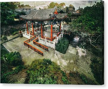 Canvas Print featuring the photograph Jade Garden by Wayne Sherriff