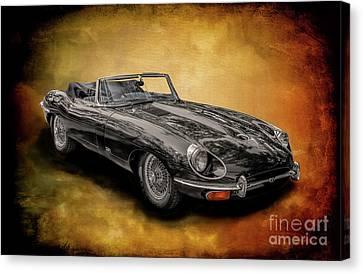Jaguar E-type Canvas Print by Adrian Evans