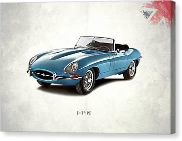 Jaguars Canvas Print - Jaguar E-type by Mark Rogan
