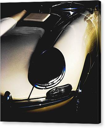 Jaguar In The Night Canvas Print by Angela Davies