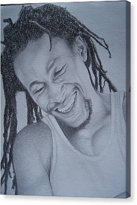 Jah Cure Canvas Print by Jeffrey Samuels