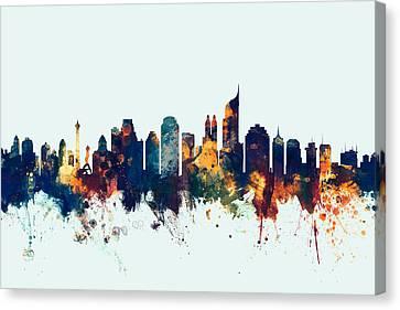 Jakarta Skyline Indonesia Bombay Canvas Print