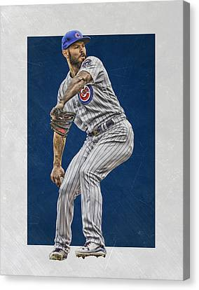 Jake Arrieta Chicago Cubs Art Canvas Print by Joe Hamilton