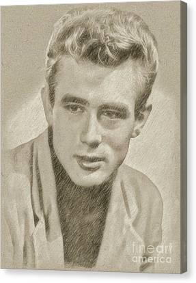 Hepburn Canvas Print - James Dean Hollywood Legend by Frank Falcon