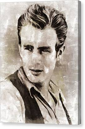 James Dean Hollywood Legend Canvas Print