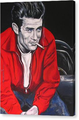 James Dean Put His Picture In A Picture Show Canvas Print by Eric Dee